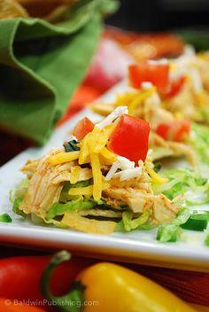 Easy Chicken Nachos Recipe. Perfect party snack.  #chicken #recipe