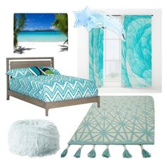 """Ocean bedroom collection"" by pintereststylist on Polyvore featuring interior, interiors, interior design, home, home decor, interior decorating, Loloi Rugs, DutchCrafters, PBteen and bedroom"