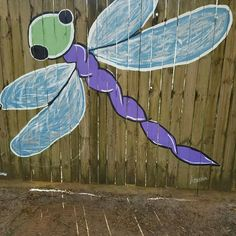 Painted by Jenny Bates, Tallahassee, FL in 2017. Outdoor garden yard painted fence mural (detail).