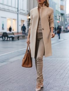 Autumn And Winter Fashion Pure Color Coat - Winter Outfits Look Fashion, Winter Fashion, Womens Fashion, Fashion Trends, Feminine Fashion, Fashion Coat, Fashion 2015, Cheap Fashion, Affordable Fashion