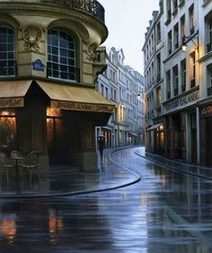 I Love Paris by Alexei Butirski. There is something calming during a rain.