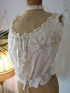 antique corset cover 1900