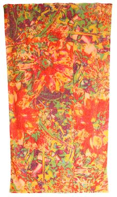 These towels are works of art made by a family in Cali. $149 Abstract Floral - Beach - Fresco Towels