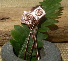 NEW  Hand Crafted Solid COPPER Headpins  with by welcometomymind, $8.50
