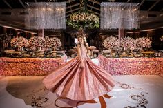 Quinceanera Party Planning – 5 Secrets For Having The Best Mexican Birthday Party Quinceanera Decorations, Quinceanera Party, Quinceanera Dresses, Wedding Decorations, Table Decorations, Wedding Desserts, 15th Birthday, Girl Birthday, Birthday Parties