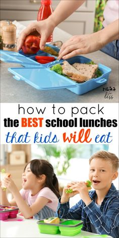 Are your kids picky school lunch eaters? Here are my favorite tips on How to Pack the Best School Lunches to help make the back to school transition easier. Packing School Lunches, Healthy School Lunches, Healthy Toddler Meals, School Snacks, Kids Meals, Bag Lunches, Work Lunches, Toddler Food, Healthy Food