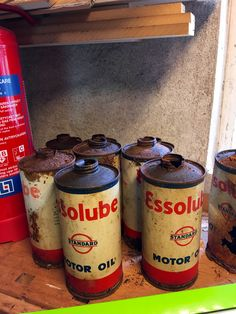 Esso oil cans
