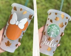 Starbucks Cup Design, Starbucks Tumbler Cup, Personalized Starbucks Cup, Custom Starbucks Cup, Personalized Cups, Starbucks Fall Cups, Starbucks Birthday, Starbucks Halloween, Disney Starbucks