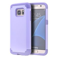 DW Dual Hybrid Samsung Galaxy S7 Case - Lavender/Purple http://www.verlengmijnmobiel.com/samsung-galaxy-s7-abonnement-vergelijken/