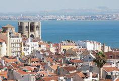 A Sé de Lisboa. Vista desde o Miradouro de São Pedro de Alcântara