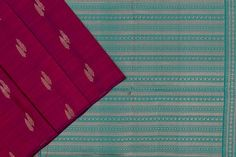 Purple soft silk with dual tone blue and green paloo and blouse. Soft Silk Sarees, Green Blouse, Silk Thread, Purple, Blue, Pure Products, Fabric, Color, Tejido