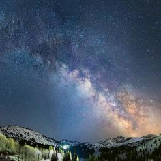 Not Photoshop (pinky swear) As spring arrives and my ability to ski becomes slightly more challenging here In Utah (cue next winters countdown!) I tell myself at least I can occupy myself with staring at the summer Milky Way it's a pretty nice way to entertain myself I guess... Stitch of four photos all taken sequentially using a Canon 5DM3 Rokinon 24 mm (f/1.4 at F/2.0) lens 20 second exposure ISO2000 ___________________________________________________________ Alta Utah #astrophotogra...
