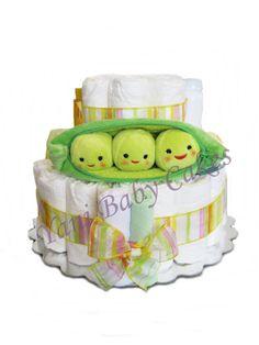 Baby Diaper Cake Baby Shower Centerpiece / Peas by YaniBabyCakes, $50.00