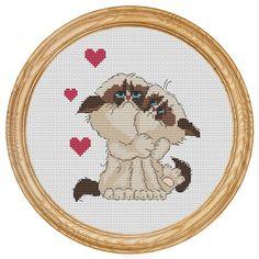Cross Stitch Pattern PDF grumpy cat love by HappyStitches4You
