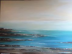 Seascape , painted with my left hand