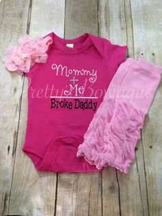 Mommy  Me  broke daddy shirt or body suit by PrettysBowtique