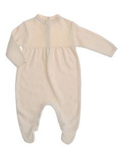 NATURAPURA Knitted Moss Stitch BabyGrow