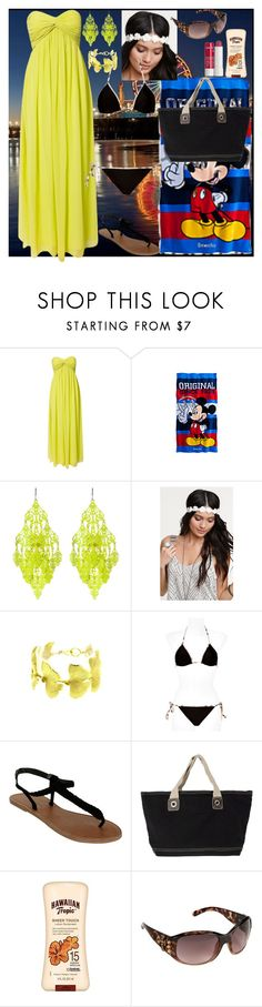 """Beach With the Bae"" by queen-awesomeness ❤ liked on Polyvore featuring NLY Trend, Amrita Singh, With Love From CA, Burberry, Wet Seal, Banana Boat, Blazin Roxx and Korres"