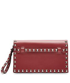 Rockstud Leather Clutch from VALENTINO