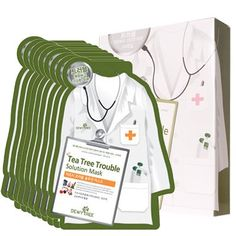Dewytree Tea Tree Trouble Solution Mask 10pcs 27g >>> Details can be found by clicking on the image. (Note:Amazon affiliate link)