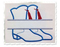 $2.95Applique Split Drill Team Boots Machine Embroidery Design