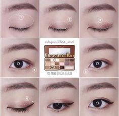 57 Trendy Makeup Tutorial Eyeshadow Prom Beauty Tips Asian Makeup Looks, Korean Makeup Look, Asian Eye Makeup, Simple Eye Makeup, Makeup For Green Eyes, Diy Makeup, Beauty Makeup, Beauty Tips, Beauty Products