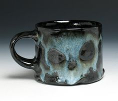 Skull Coffee Mug Skull & Crossbones by NicolePangasCeramics