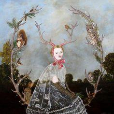 Anne Siems See her website: http://www.annesiems.com/paintings.html