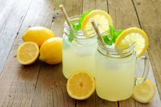 """No lie. Every year we make gallons of this lemonade for local charity fundraising events, and the response from those that drink this lemonade is """"This is the b Diet Drinks, Healthy Drinks, Beverages, Refreshing Drinks, Summer Drinks, Classic Lemonade Recipe, Flavored Ice Cubes, Best Lemonade, Health Research"""