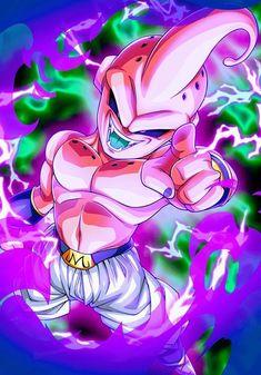 Kid Buu card [Bucchigiri Match] by Dragon Ball Gt, Majin Boo Kid, Buu Dbz, Madara Wallpaper, Comics Anime, Dc Comics, Dragon Super, Ball Drawing, Seven Deadly Sins Anime