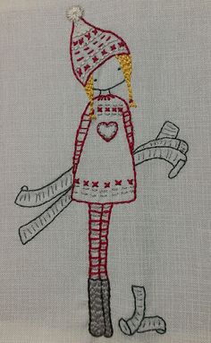 Little Green Doll - Bordado de Lilipopo - Lilipopo's embroidery