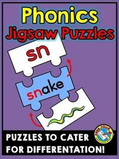 Do you want to teach #phonics #sounds in an interactive and fun way? These 3-piece #jigsaw #puzzles are ideal to be used during lessons, in literacy centers and home-schooling.   Sounds included in this set are: blbrchck clcrdrflfrglgrplpr sc shskslsmsnspstswthtrtwwhwr #phonics #literacy #game #consonant #digraphs #blends