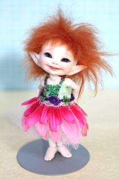 Real Puki Realpuki Tiny Flower Fairy Doll by DesertMountainDoll