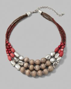 Tempest Beaded Multi-Strand Necklace