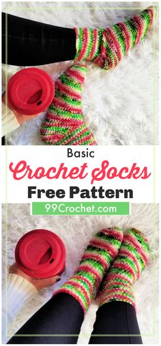 15 free crochet socks patterns that can totally make your winters all trendy and warmer at the same time Besides wearing these crochet socks in your shoes you can easily wear them for the chilly nights you Easy Crochet Socks, Crochet Socks Pattern, Crochet Headband Pattern, Crochet Basket Pattern, Crochet Flower Patterns, Crochet Flowers, Free Crochet, Knitting Patterns, Doilies Crochet
