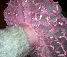 Fiesta rosa de la cinta perro Tu Tu perro traje por CustomDogJacket