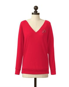 The University of Utah Pullover V-Neck Sweater in Red #utahutes