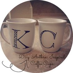 DIY {Anthro-Inspired Coffee Mugs}
