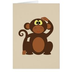 Wanna Monkey Around? Card - love cards couple card ideas diy cyo
