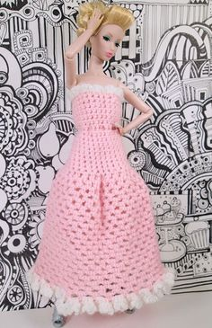 Barbie Crochet Day Dress