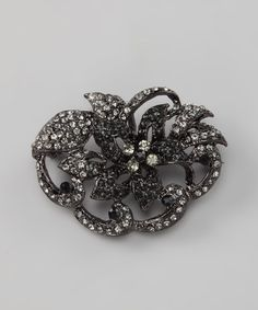 Take a look at this Black Antique Flower Pin by Ten79 on #zulily today!