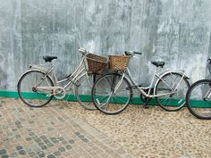 Baskets on Bicycles in Oxford