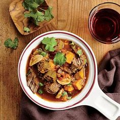 For the Globe-Trotting Cook: West African Beef, Plantain, and Okra Stew - Throw a Soup-and-Stew Potluck Party - Cooking Light Mobile Okra Recipes, Beef Recipes, Cooking Recipes, Broccoli Recipes, Asparagus Recipe, Soup Recipes, Recipies, Vegan Recipes, Dinner Recipes