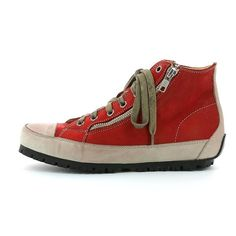 Woman's Leather Sneaker made with vegetable tanned calf linings, with very low chromium content. Fashion Online Shop, Trends, Chuck Taylor Sneakers, Leather Sneakers, Chuck Taylors, Calves, Shoes, Women, Red