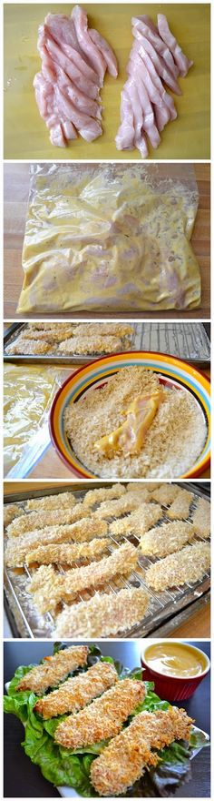 honey mustard chicken strips - Askmefood