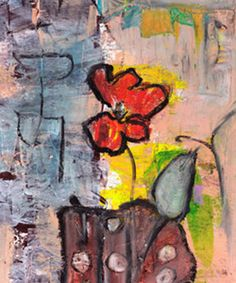 Abstract Flower 2 Painting Print on Wrapped Canvas