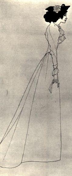 Mrs Patrick Campbell Aubrey Beardsley Detail