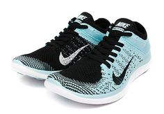 Trendy Ideas For Women's Sneakers : Nike Free Flyknit WMNS Black / Black Glacier Ice White. Nike Free Shoes, Nike Shoes Outlet, Running Shoes Nike, Nike Free Runners, Nike Outfits, Work Outfits, Cute Shoes, Me Too Shoes, Fashion Boots