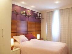 Quarto de casal de um apartamento de 89 m². Projetado por Ana Lucia Nunes Gomes.