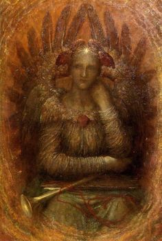 George Frederick Watts (1817-1904)The Dweller Within  Oil on canvas